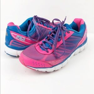 Fila Cool Max Memory Foam Shoes Pink Blue Size 8.5